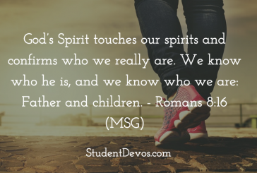 Daily Bible Verse and Devotion – Romans 8:16
