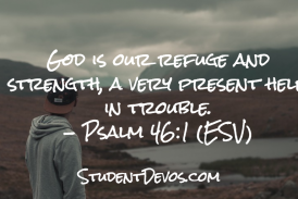 Daily Bible Verse and Devotion – Psalm 46:1