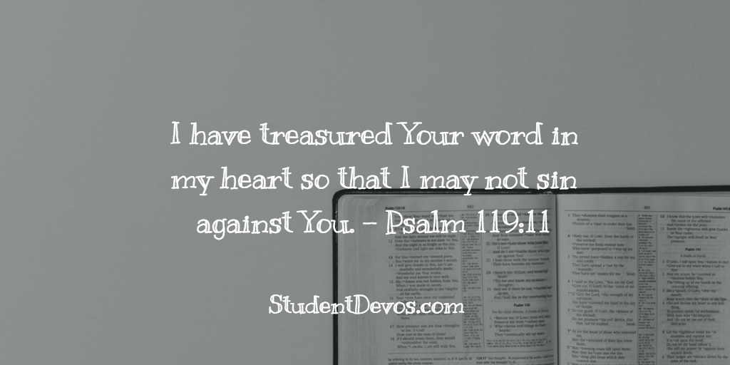 Daily BIble Verse and Devotion – Psalm 119:11