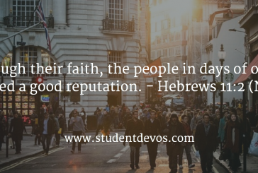 Daily Devotion and Bible Verse – Hebrews 12:2