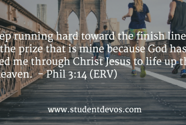 Daily Bible Verse and Devotion – Phil 3:14
