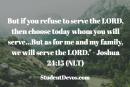Daily Bible Verse and Devotion – Joshua 24:15