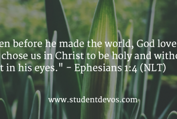 Daily Bible Verse and Devotion – Ephesians 1:4