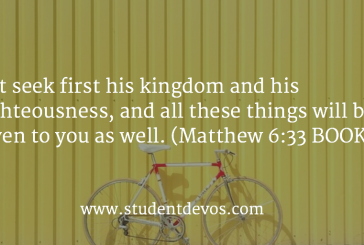 Daily Devotion and Bible Verse – August 3