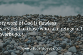 Daily Bible Verse and Devotion – Proverbs 30:5