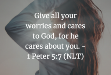Daily Bible Verse and Devotion – 1 Peter 5:7