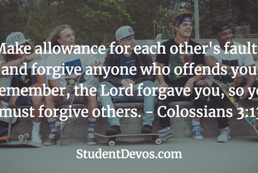 Daily Bible Verse and Devotion – Colossians 3:13