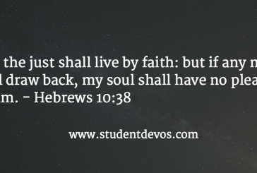 Daily Bible Verse and Devotion – October 10