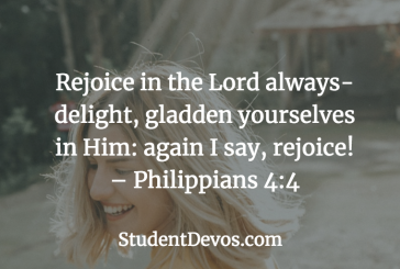 Daily Bible Verse and Devotion – Phil 4:6