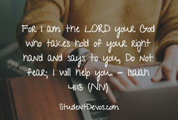 Daily Bible Verse and Devotion – Isaiah 41:13
