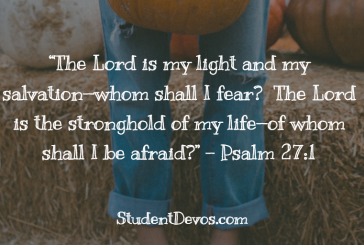 Daily Bible Verse and Devotion – Psalm 27:1
