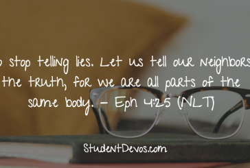 Daily Bible Verse and Devotion – Ephesians 4:25