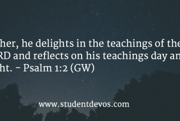 Daily Bible Verse and Devotion – Psalm 1:2