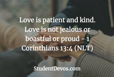Daily Bible Verse and Devotion – 1 Corinthians 13:4