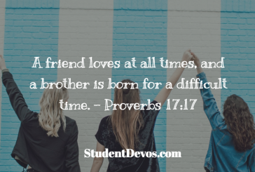 Daily Bible Verse and Devotion – Proverbs 17:17
