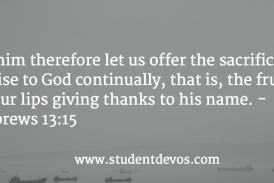 Daily Bible Verse and Devotion – November 12