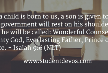 Daily Bible Verse and Devotion – December 21