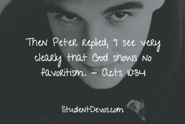 Daily Bible Verse and Devotion – Acts 10:34