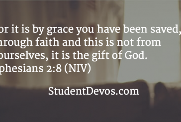 Daily Bible Verse and Devotional – Ephesians 2:8