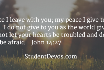 Daily Bible Verse and Devotion – December 26