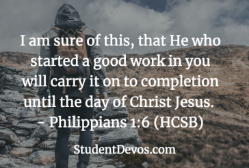 Daily Bible Verse and Devotion – Philippians 1:6