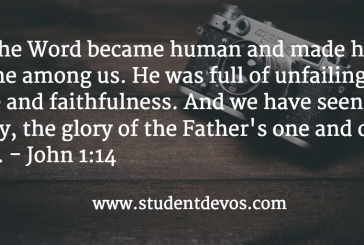 Daily Bible Verse and Devotion – December 20