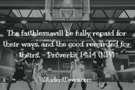 Daily Bible Verse and Devotion – Proverbs 14:14