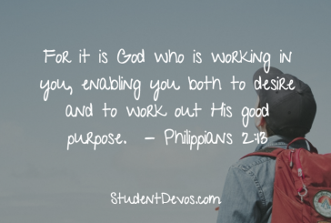 Daily Bible Verse and Devotion – Philippians 2:13