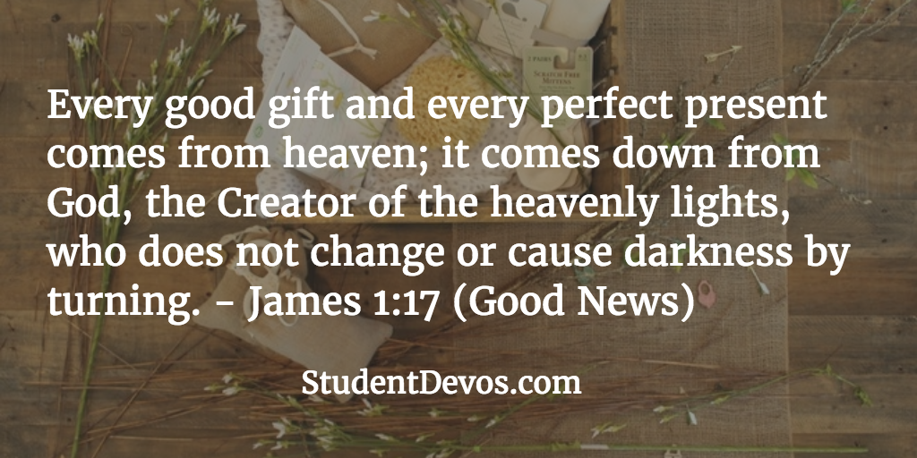 Daily Bible Verse and Devotion – James 1:17