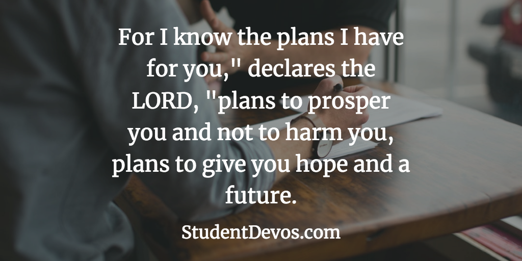Daily Bible Verse and Devotion – Jeremiah 29:11