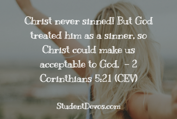 Daily Bible Verse and Devotion – 2 Corinthians 5:21