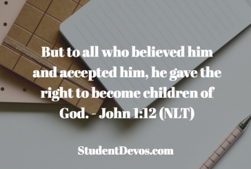Daily Bible Verse and Devotion – John 1:12