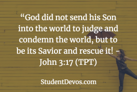Daily Bible Verse and Devotion – John 3:17