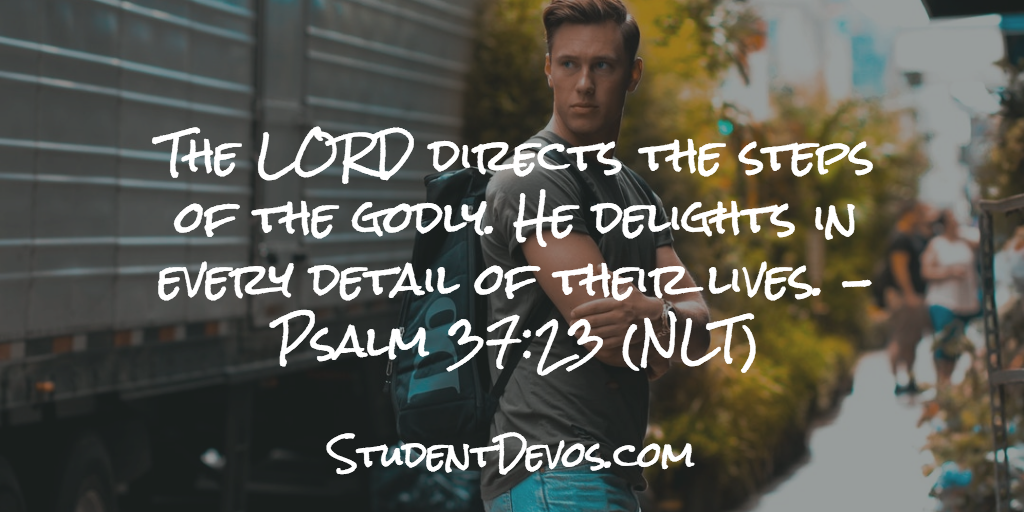 Daily Bible Verse and Devotion – Psalm 37:23