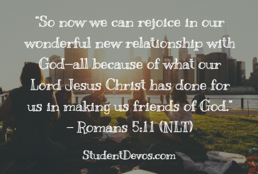 Daily Bible Verse and Devotion – Romans 5:11