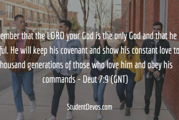 Daily Bible Verse and Devotion – Deuteronomy 7:9