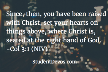 Daily Devotion and Bible Verse – Col 3:1