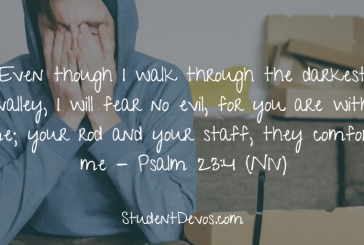Daily Bible Verse and Devotion – Psalm 23:4