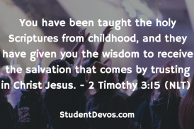 Daily Bible Verse and Devotion – 2 Timothy 3:15