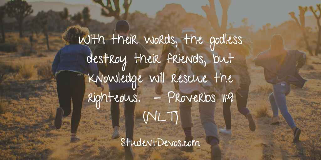 Daily Bible Verse and Devotion – Proverbs 11:9