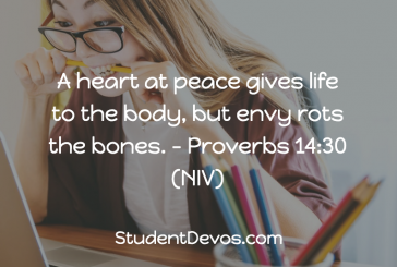 Daily Bible Verse and Devotion – Proverbs 14:30