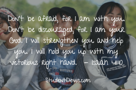 Daily Bible Verse and Devotion – Isaiah 41:10