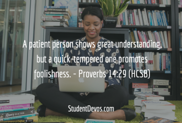 Daily Bible Verse and Devotion – Proverbs 14:29