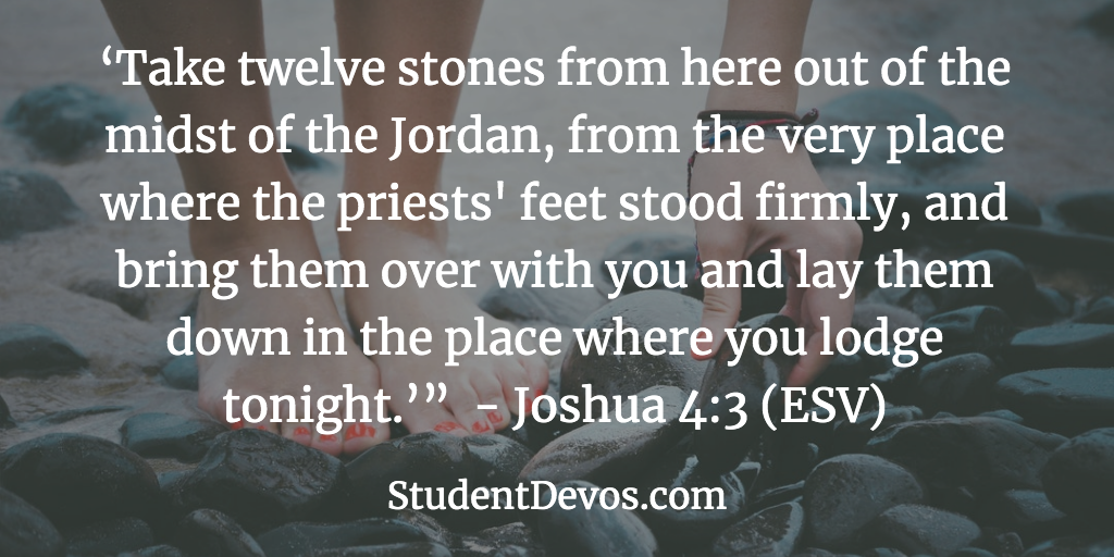 Daily Bible Verse and Devotion – Joshua 4:3