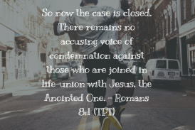 Daily Bible Verse and Devotion – Romans 8:1