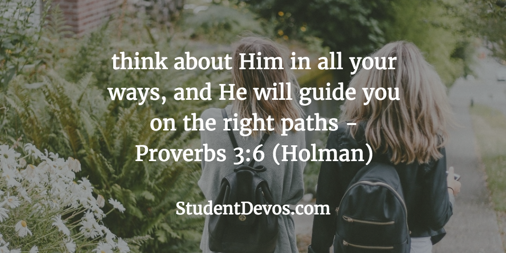 Daily Bible Verse and Devotion – Proverbs 3:6