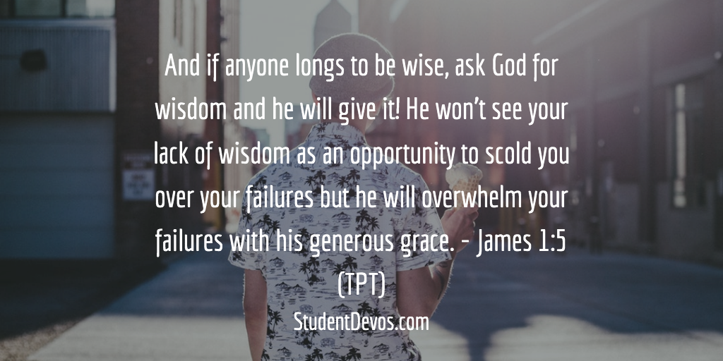 Daily Bible Verse and Devotion – James 1:5