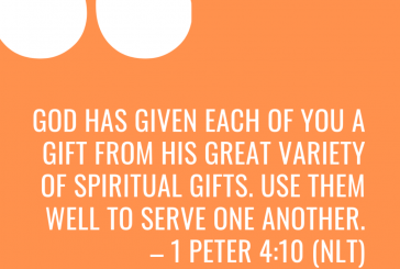 Daily Bible Verse and Devotion – 1 Peter 4:10