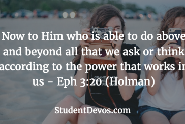 Daily Bible Verse and Devotion – Ephesians 3:20