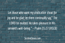 Daily Bible Verse and Devotion – Psalm 35:27
